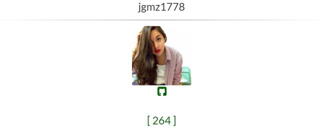 screenshot of my fcc profile